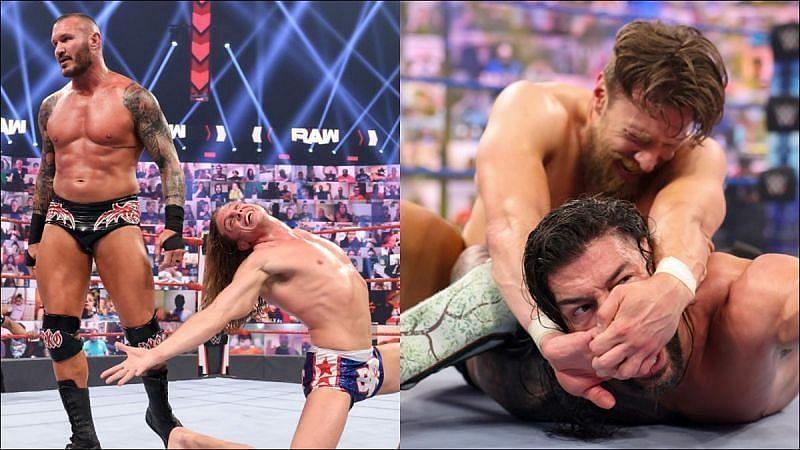 WWE सुपरस्टार रैंडी ऑर्टन, रिडल, रोमन रेंस और डेनियल ब्रायन