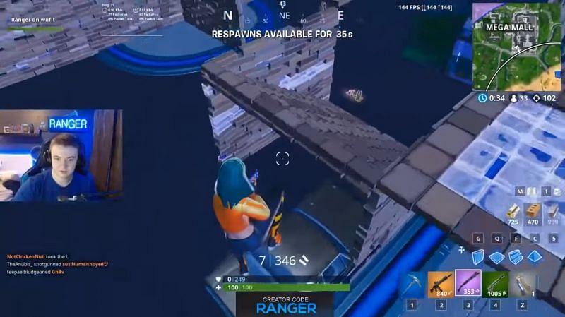 Ranger holds the highest number of kills in solos in Fortnite. Image via YouTube (Ranger)