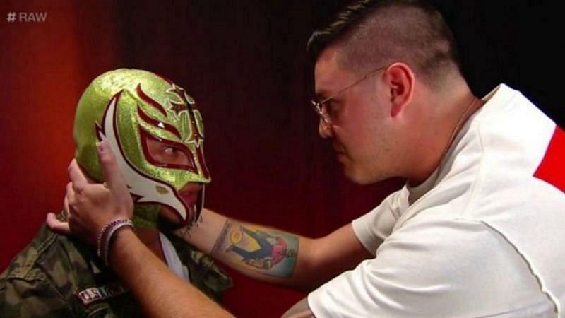 Dominik Mysterio began appearing regularly on WWE television with Rey Mysterio in 2019