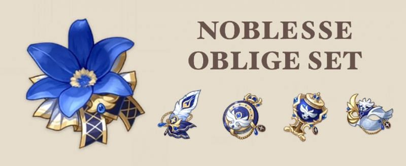The Noblesse Oblige is one of his best artifact sets (Image via Buhitter)