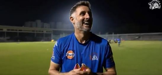 Michael Hussey. Pic Credits: CSK Twitter