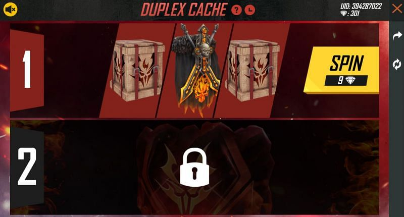 Players can get the Dark Knight Backpack and the Netherworld Troops Gloo Wall in the Duplex Cache event in Free Fire