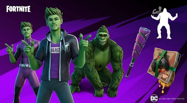 Beast Boy to Receive His Own In-Game Bundle {Image via Epic Games}