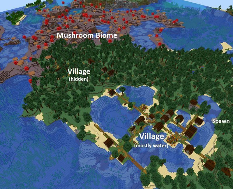 Large taiga village (Image via u/BigBrain5Head)