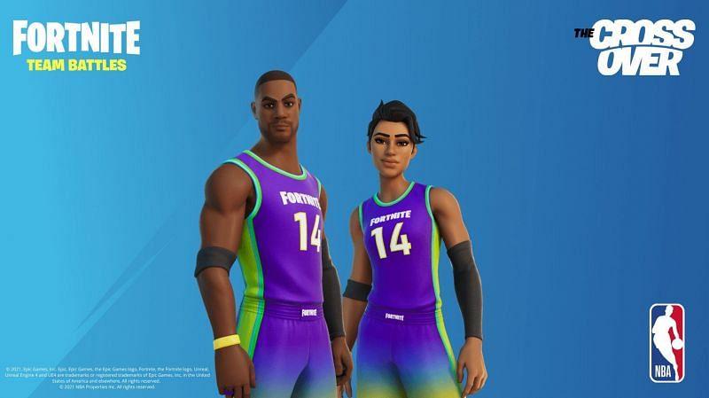 Fortnite NBA Team battles poster out on social media (Image via Twitter)