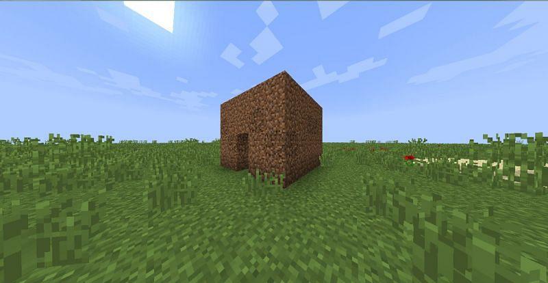 A dirt hut (Image via Reddit)