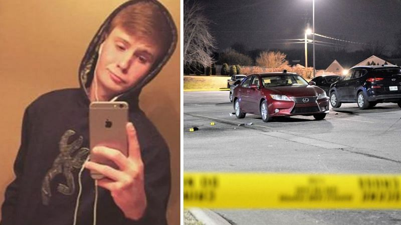Still of Timothy Wilks and crime scene of the fatal shooting/Image via KnowYourMeme
