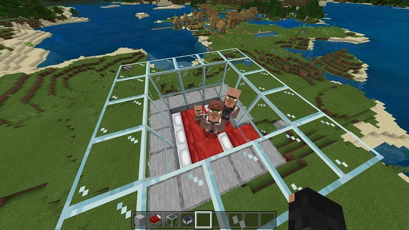 Crafting Iron Farms in Minecraft