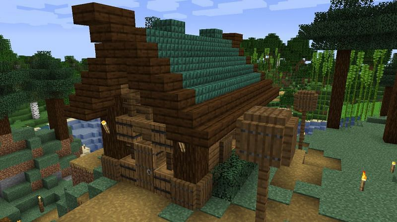 Find a Witch Hut in a swamp in this Minecraft seed (Image via Reddit)