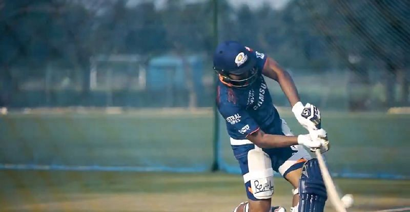 Rohit Sharma in a training session. Pic Credits: mipaltan Twitter