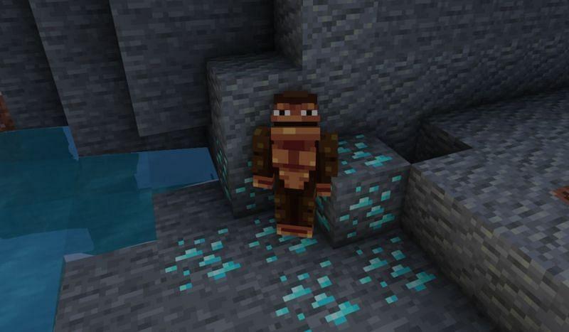 A Monke defending his diamonds (Image via Minecraft)