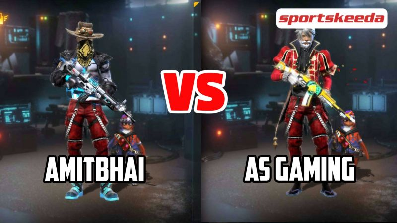 Amitbhai vs AS Gaming in Free Fire (Image via Sportskeeda)