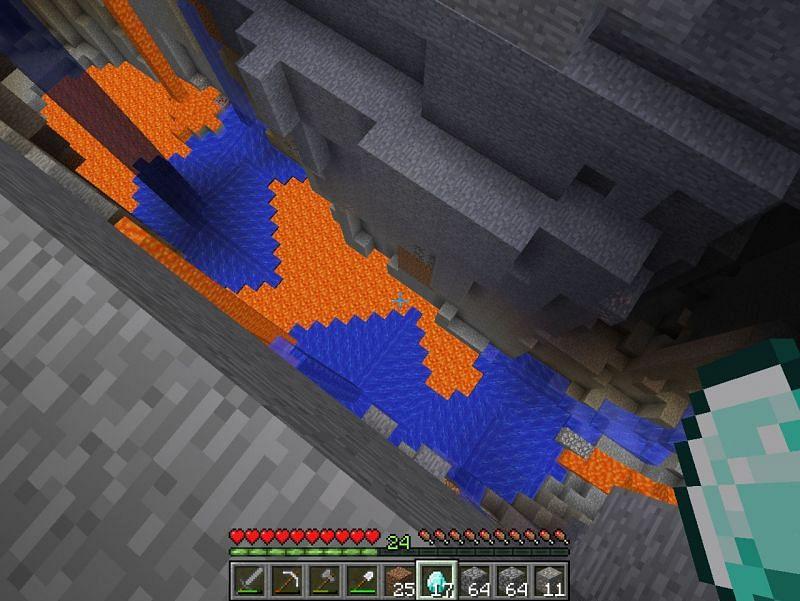 Nature finding a way to remove lava (Image via minecraftforum)