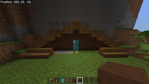 Choosing textured blocks for hobbit hole