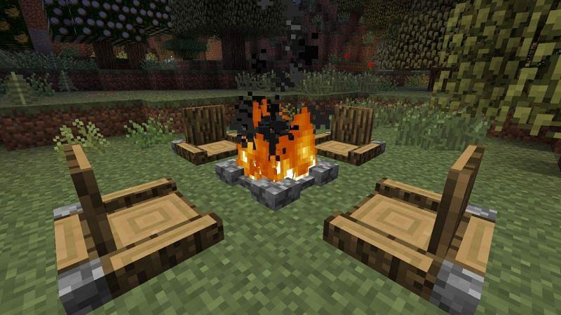 Minecraft campfire (Image via planetminecraft)