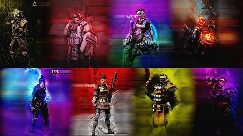 Some of the Legends coming with Apex Legends Mobile (Image via UHD Wallpaper)