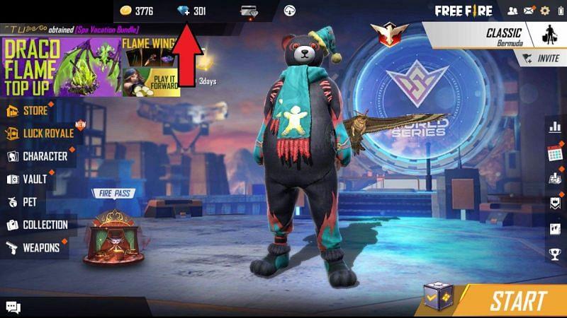 "Click on the ""Diamond"" icon"