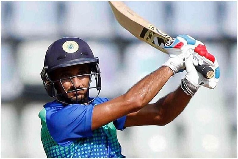 Harshal Patel smashed 82 runs against Meghalaya (Credits: news.18.com)