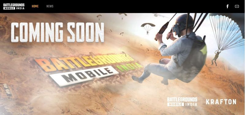 Poster of Battlegrounds Mobile India on the official website