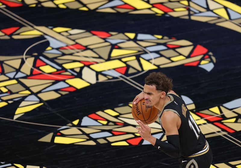 Trae Young #11 of the Atlanta Hawks