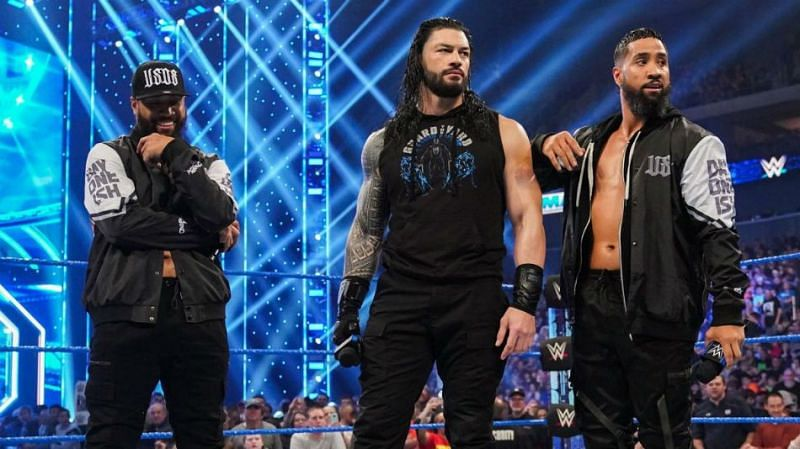 The Usos with Roman Reigns