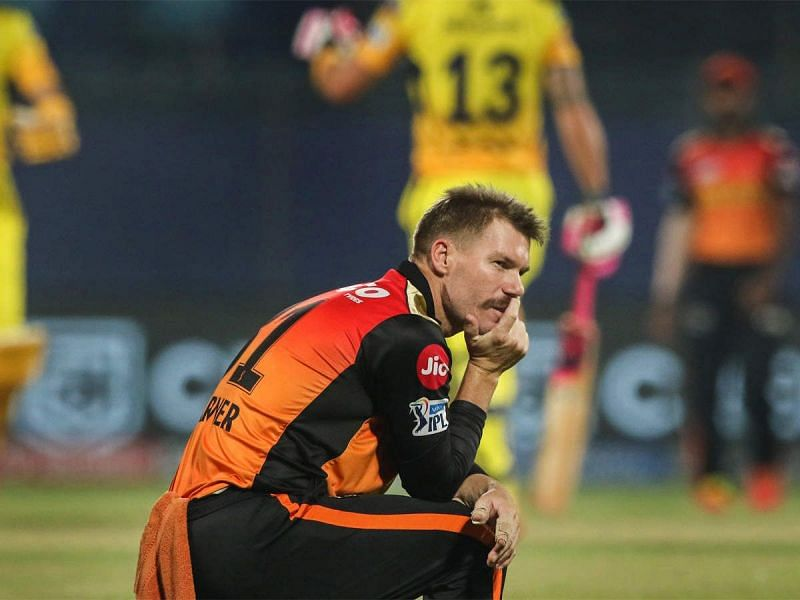 David Warner was replaced as SRH captain and dropped from the playing XI vs RR (Image source IPL)