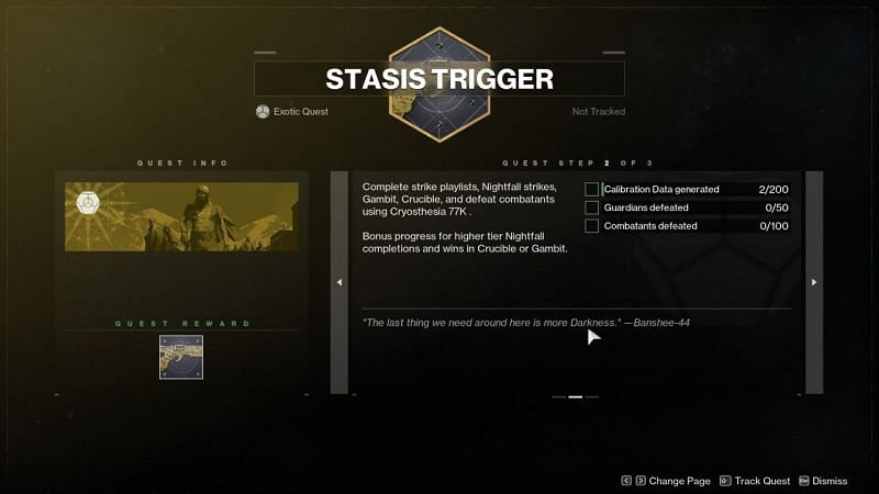 The second part of the Destiny 2 Cryothesia 77k catalyst mission. Image via Attackofthefanboy