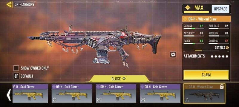 The DR-H Assault Rifle has an excellent mid-to-long firing range in COD Mobile