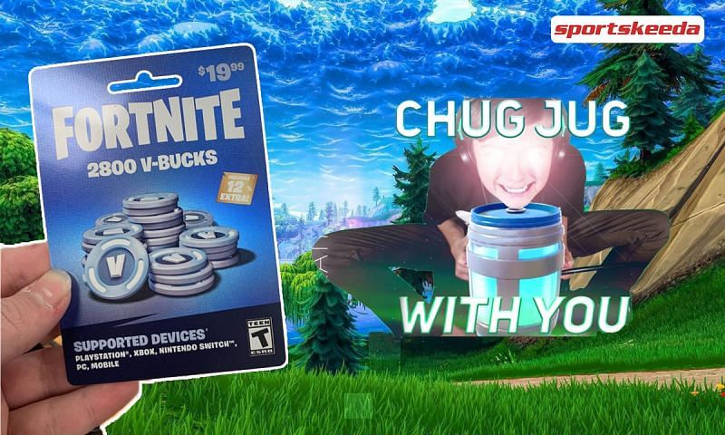 Chug Jug with you and $19 Fortnite card most popular memes( Image via Twitter)