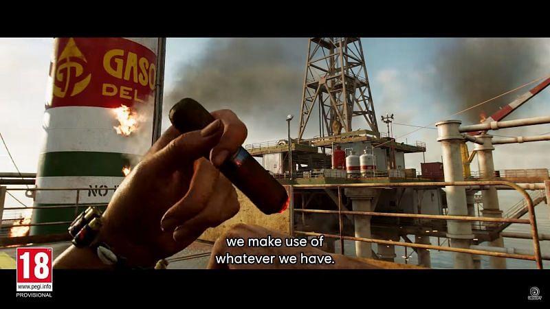Healing through smoking cigar (Image via Ubisoft)