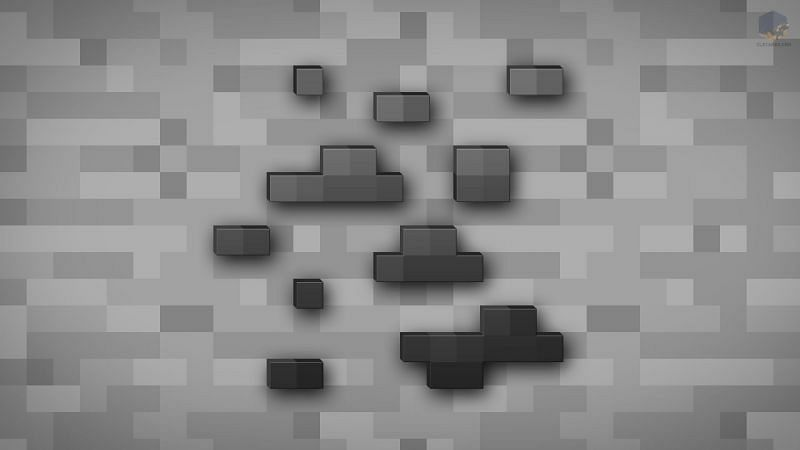 Coal ore in Minecraft (Image via chrisl21.deviantart.com)