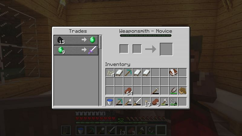 Trading coal in Minecraft (Image via Reddit)