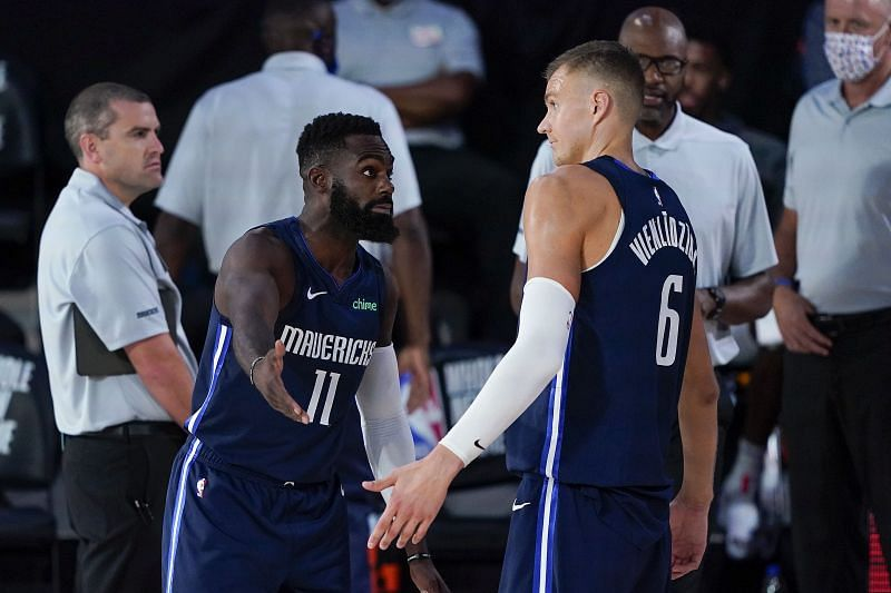Tim Hardaway Jr. played in the last game but is listed as doubtful,l while Porzingis is unavailable for the Dallas Mavericks.