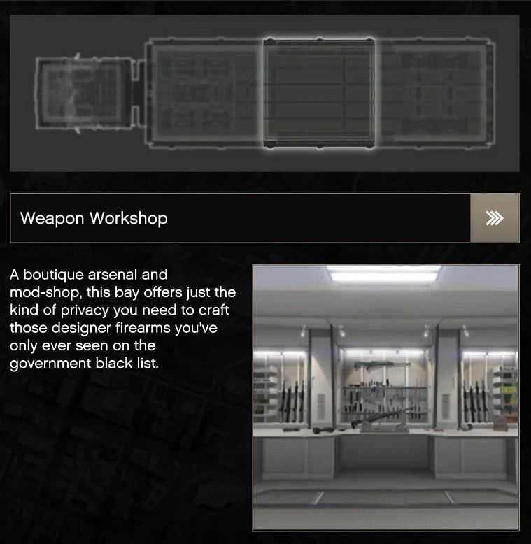 The weapon workshop is an optional add-on for the MOC