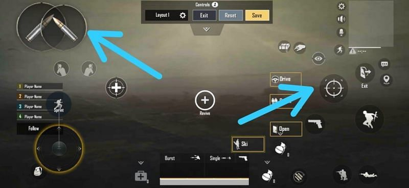 Three-finger claw layout settings for PUBG Mobile Lite