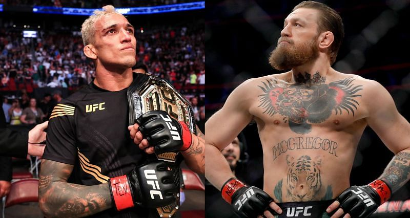 Charles Oliveira (Left) and Conor McGregor (Right)