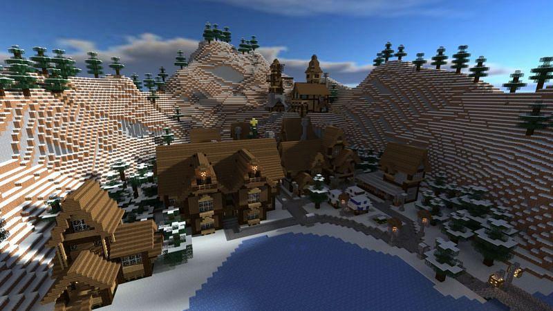 Snow Village (Image via Pinterest)