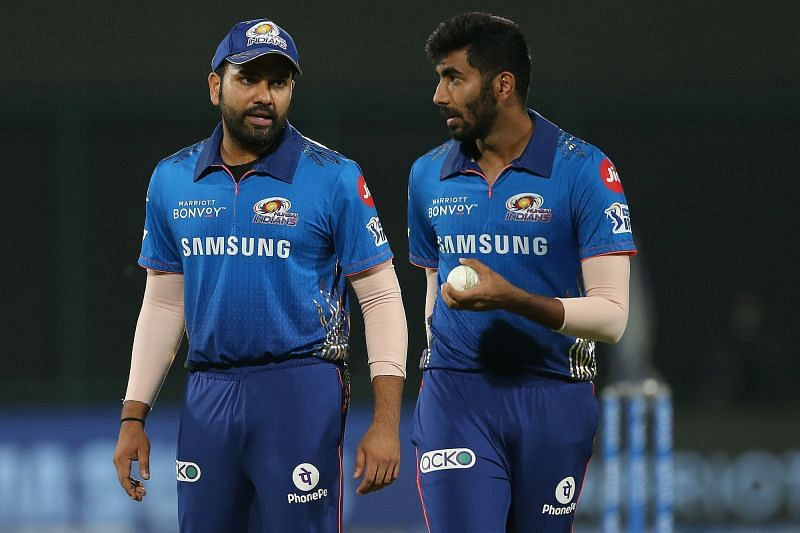 Jasprit Bumrah( right) was taken to the cleaners by CSK. (Image Courtesy: IPLT20.com)