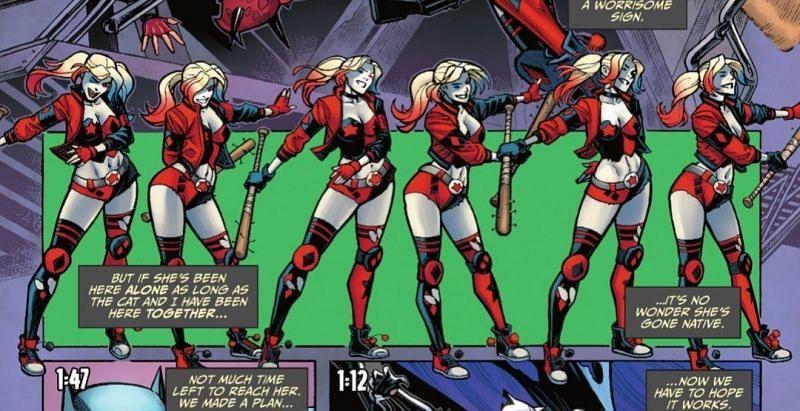 Harley Quinn doing the Floss in Fortnite Batman Zero Point comic book (Image via Epic Games)