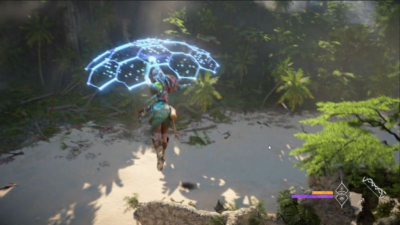Shield Wing - new gliding mechanic in Horizon Forbidden West (Image via Playstation)