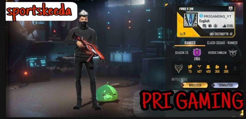 Pri Gaming की Free Fire ID