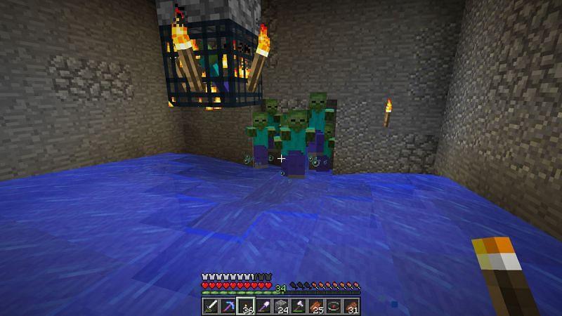 Zombie spawner trap (Image via gaming.stackexchange)