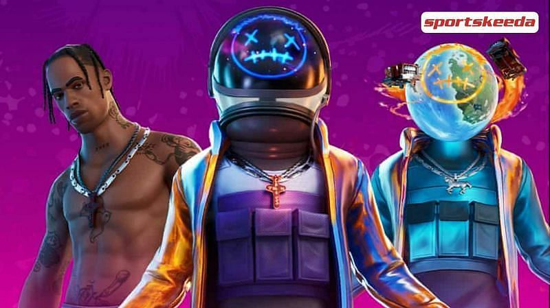 Fans are eagerly waiting for the Travis Scott Fortnite skin to return to the game. Image via Sportskeeda