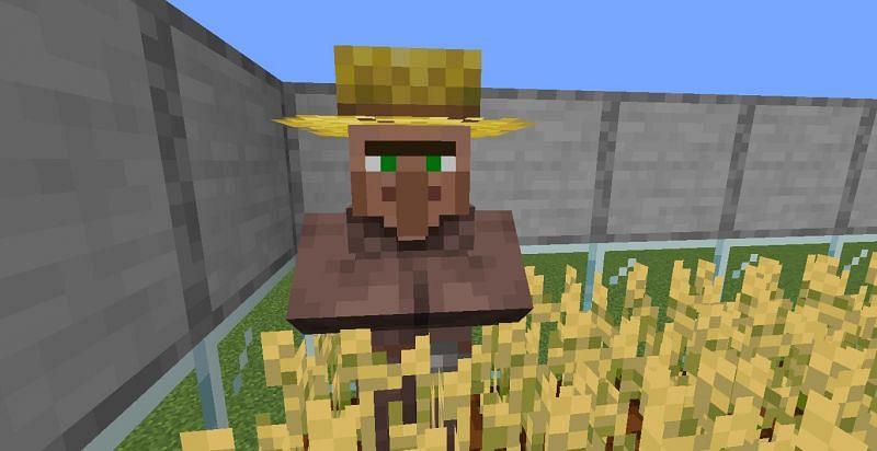 Farmer can harvest crops (Image via Minecraft)
