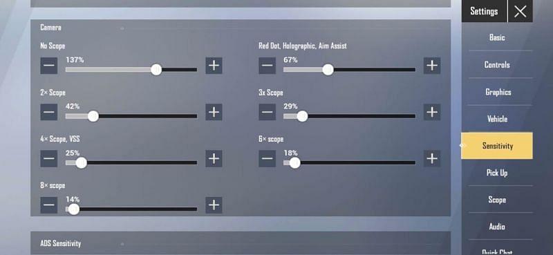Best camera sensitivity in PUBG Mobile Lite for beginners
