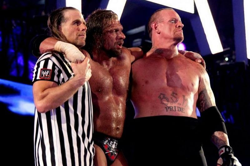 The Undertaker, Triple H, and Shawn Michaels
