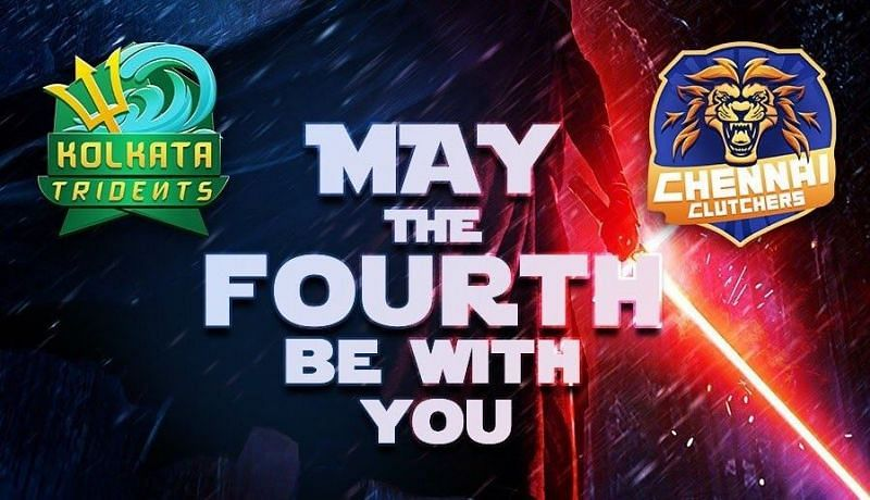 """Kolkata Tridents vs Chennal Clutchers on """"May the Fourth be with you"""" (Image by Skyesports)"""