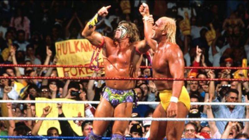 The Ultimate Warrior saved Hulk Hogan from Papa Shango at WrestleMania VIII.