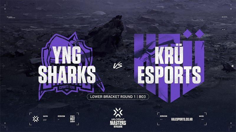 KRÜ Esports eliminated Shark Esports from the Valorant Champions Tour Masters Reykjavik(Image via Valorant Champions Tour KR/Twitter)