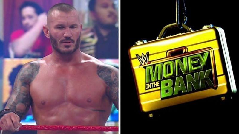Randy Orton (left); The MITB briefcase (right)